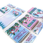 Christmas Custom Printed Notebooks Rectangle Shape Listpad 80gsm Inner Paper