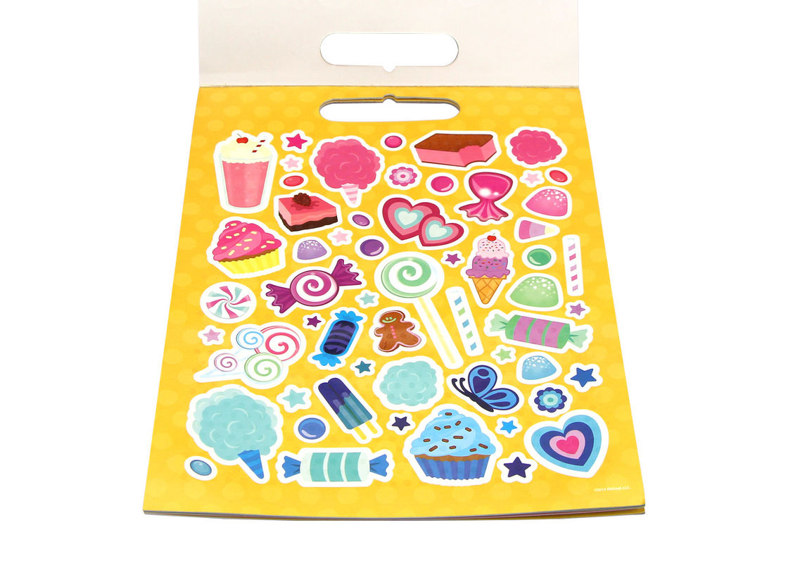 Self Adhesive Paper Sticker Book For Kids OEM Offset Printing Pattern Logo