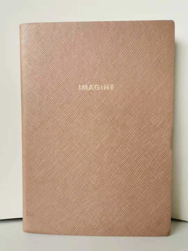 Pink Embossing Custom Printed Notebooks Light Weight With Logo Printed
